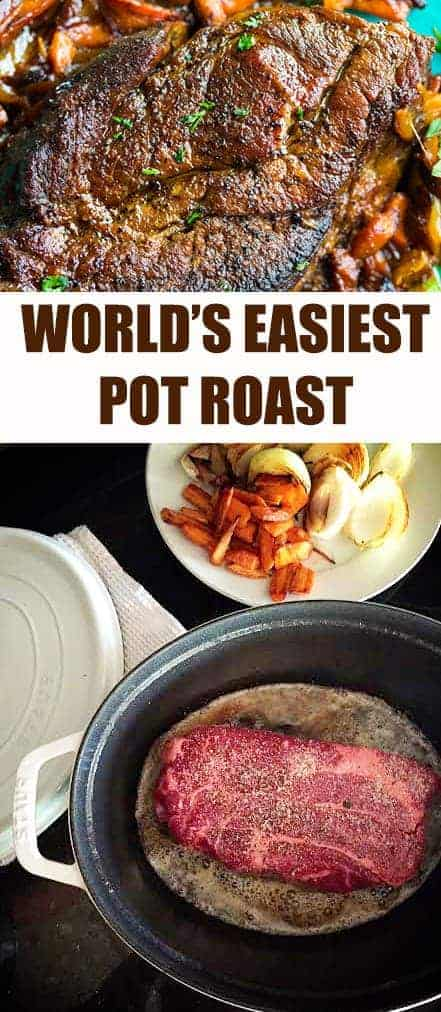 The BEST (and also easiest) pot roast ever! If you can turn on an oven you can master this recipe!