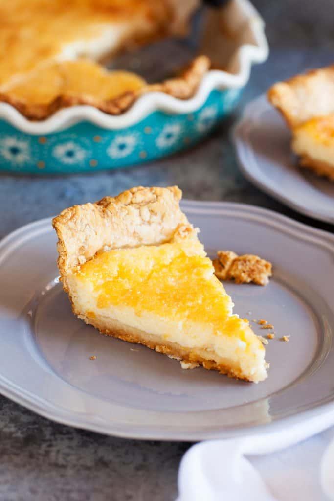 The perfect buttermilk pie!