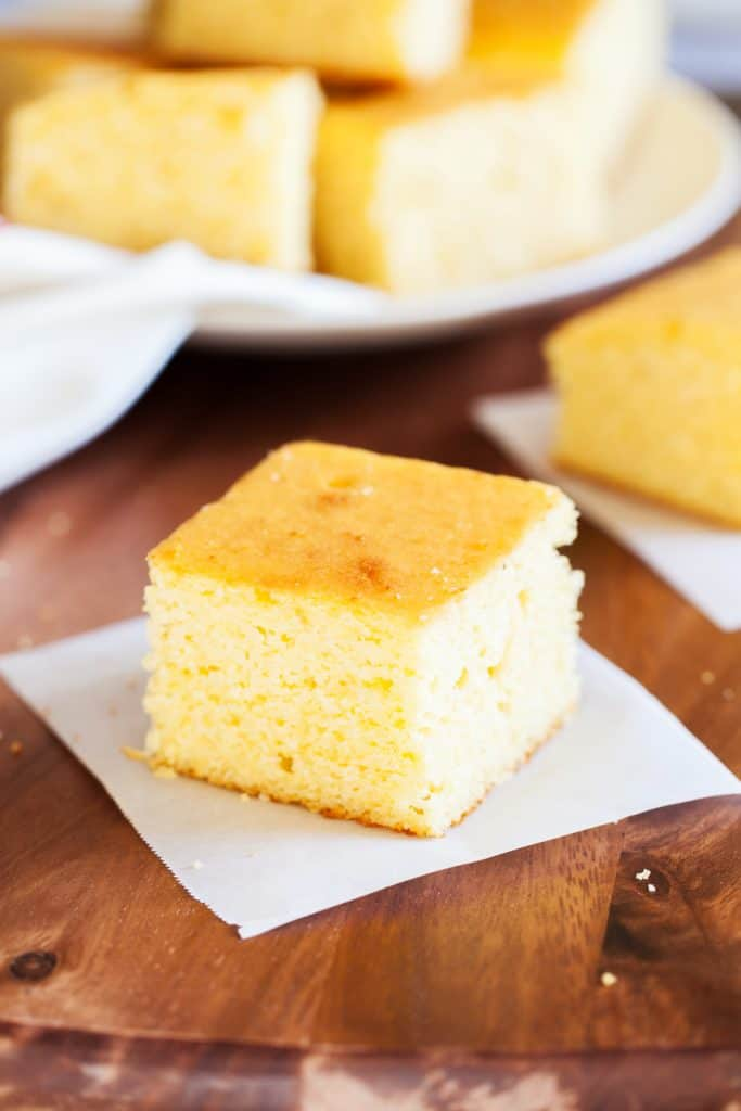 slice of cornbread