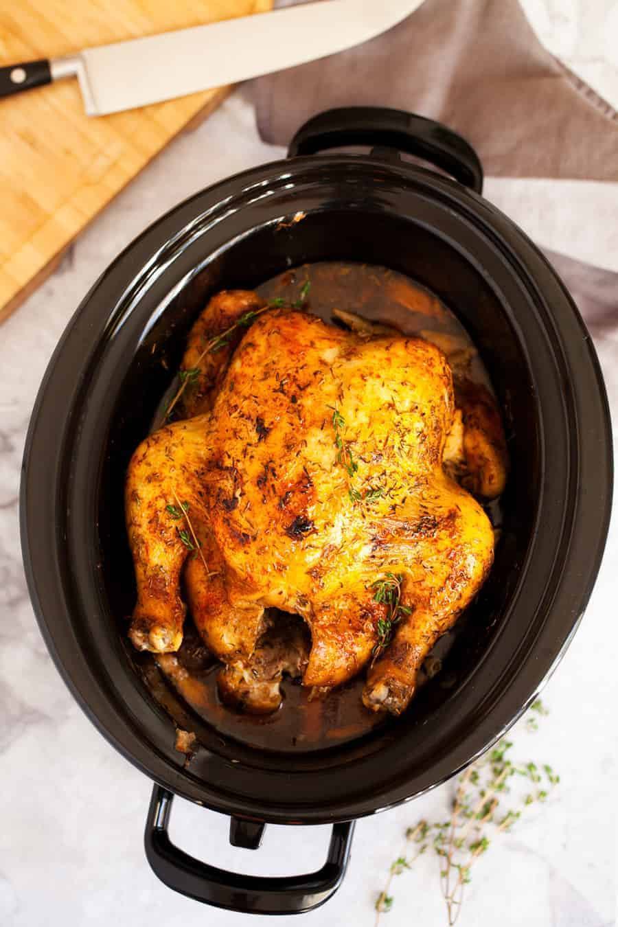 Slow Cooker Rotisserie Chicken I Am Homesteader