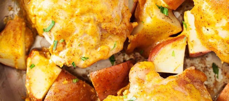 Maple Mustard Chicken and Potatoes