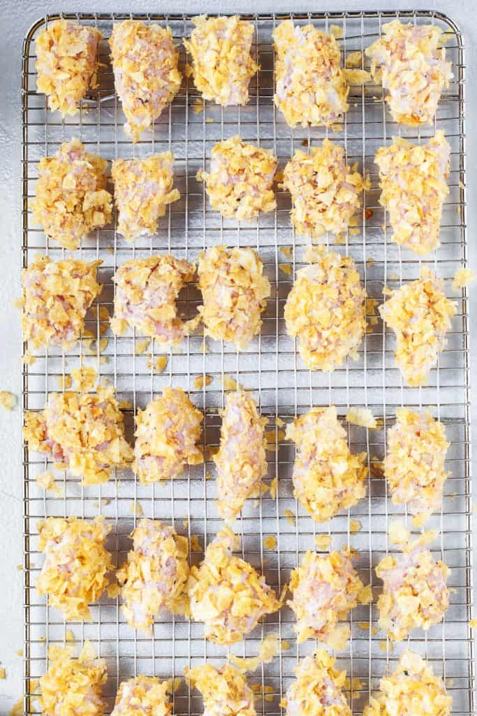 Baked Popcorn Chicken from iamhomesteader.com