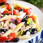 Italian Pasta Salad from iamhomesteader.com