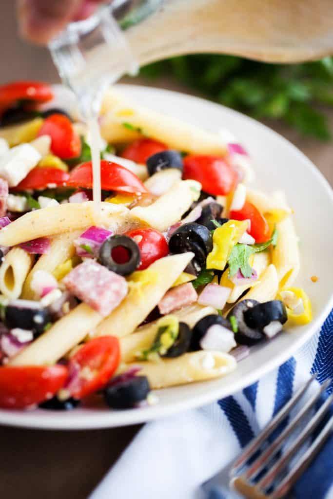 Italian Pasta Salad from iamhomesteader.com