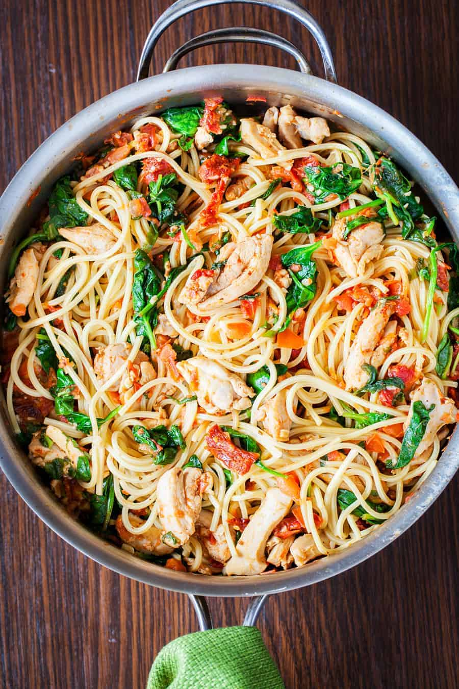 Tomato Spinach Chicken Spaghetti Video I Am Homesteader