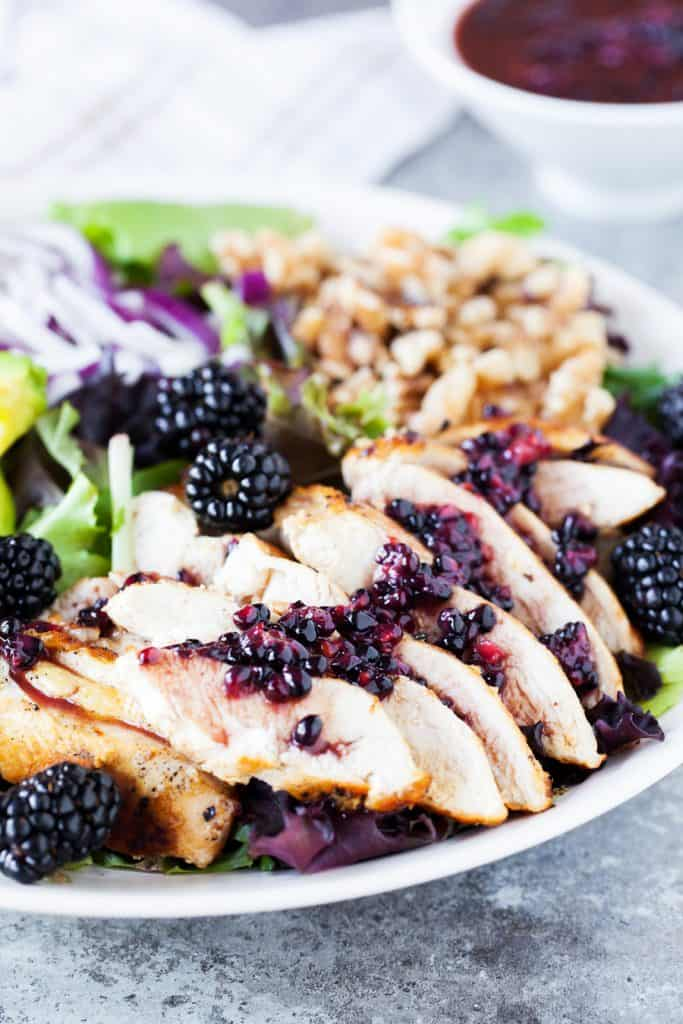 Blackberry Dressing on a fresh chicken salad