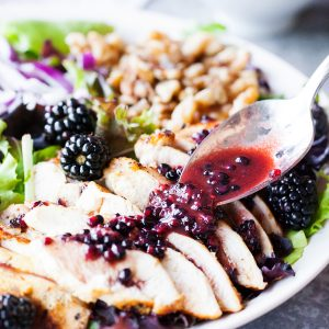 Blackberry Balsamic Chicken Salad