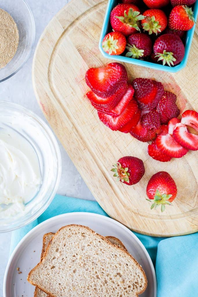 Farm fresh strawberries for breakfast!