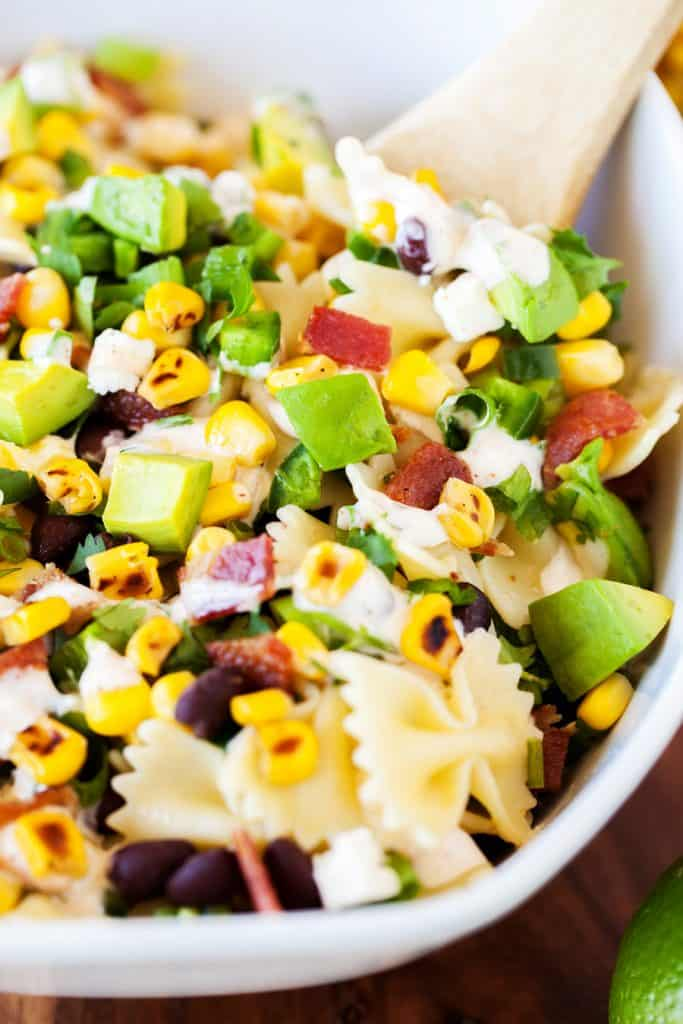 Tangy Mexican Street Corn Pasta Salad