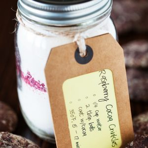 Raspberry Cocoa Crinkles