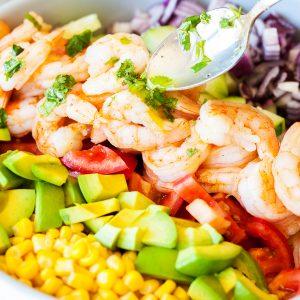 Shrimp and Avocado Salad from iamhomesteader.com