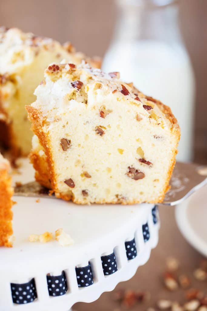 Southern Pecan Pound Cake I Am Homesteader