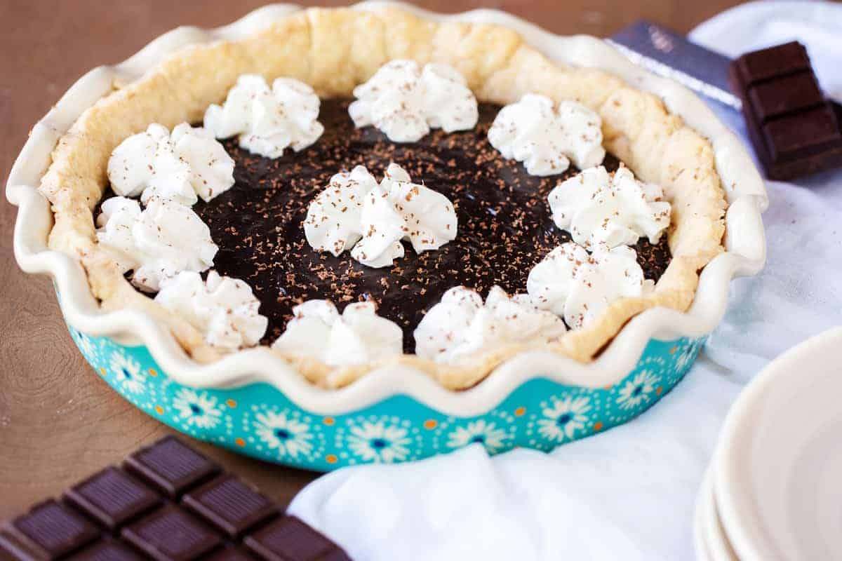 Yoder's Amish Chocolate Pie - I Am Homesteader