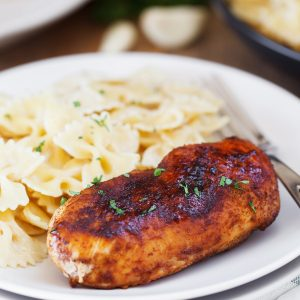 Cajun Chicken with Roasted Garlic Alfredo Pasta