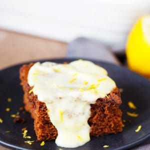 That lemony sauce puts this cake over the top!