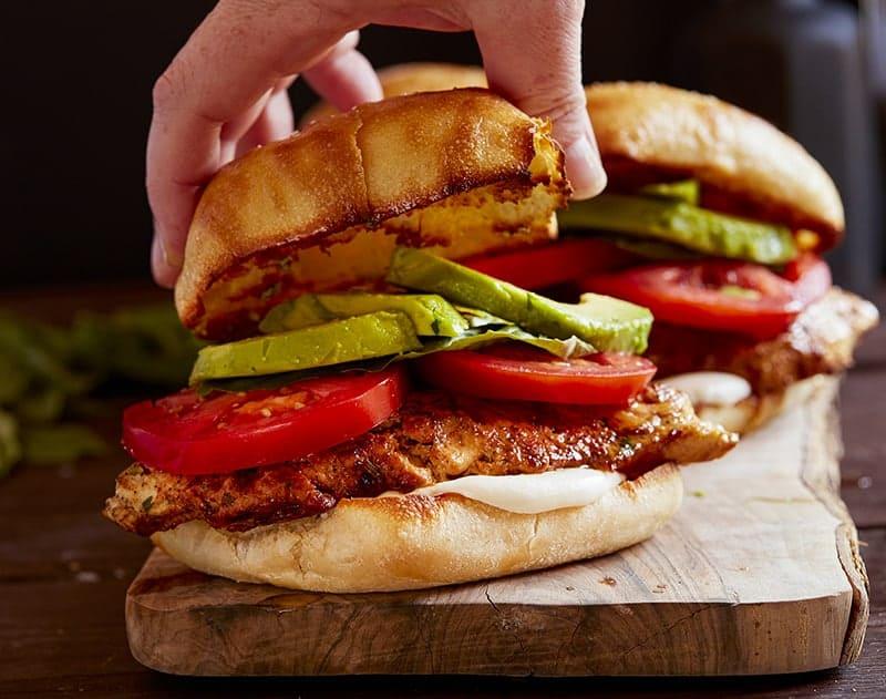 Chicken Caprese Sandwich with Toasted Bun