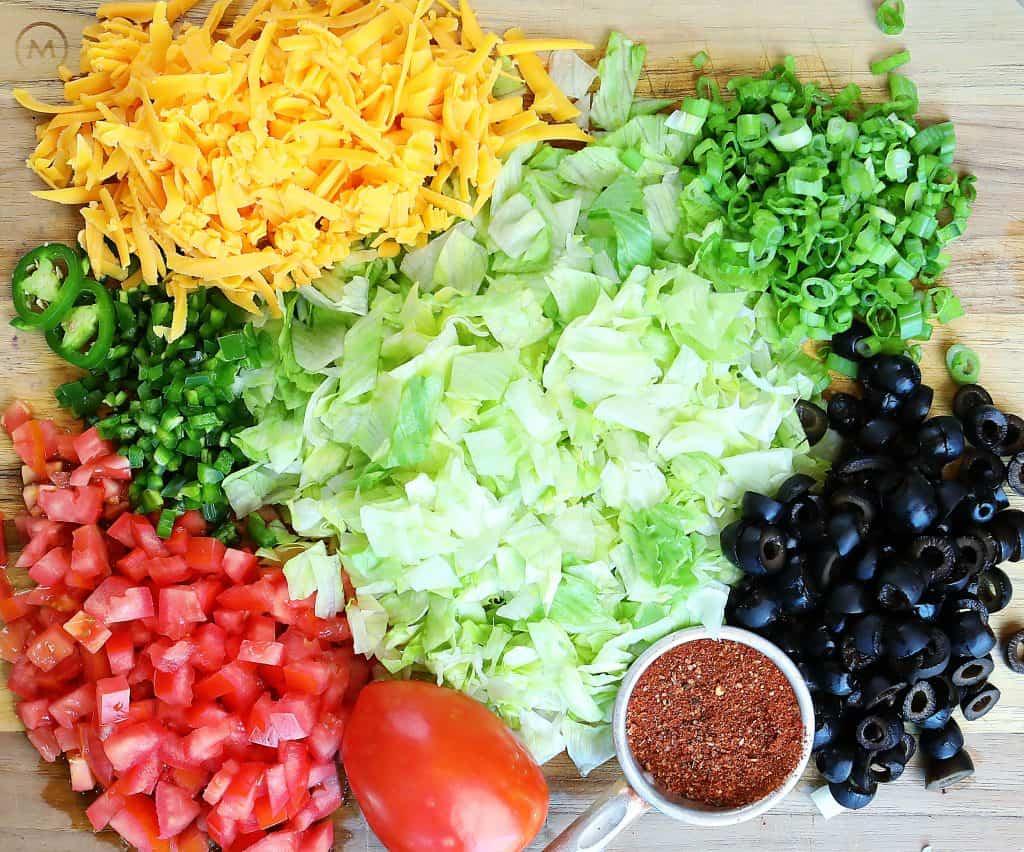 Perfect Taco Dip Ingredients!