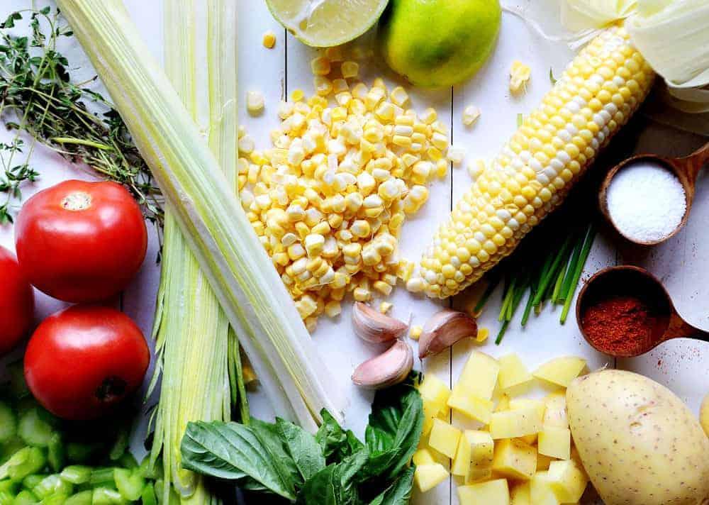 Fresh Veggies for Corn Soup