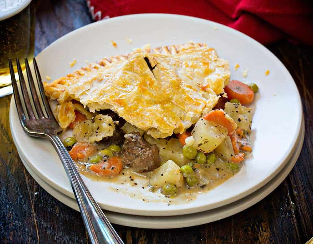 Beef pot pie with steak bites!