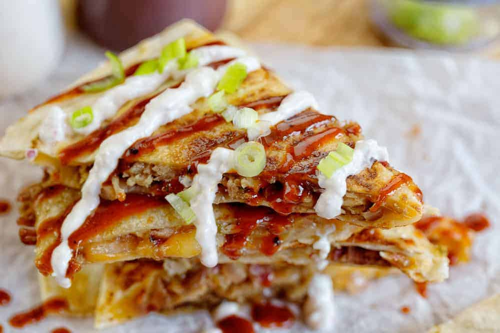 The best pulled pork quesadillas