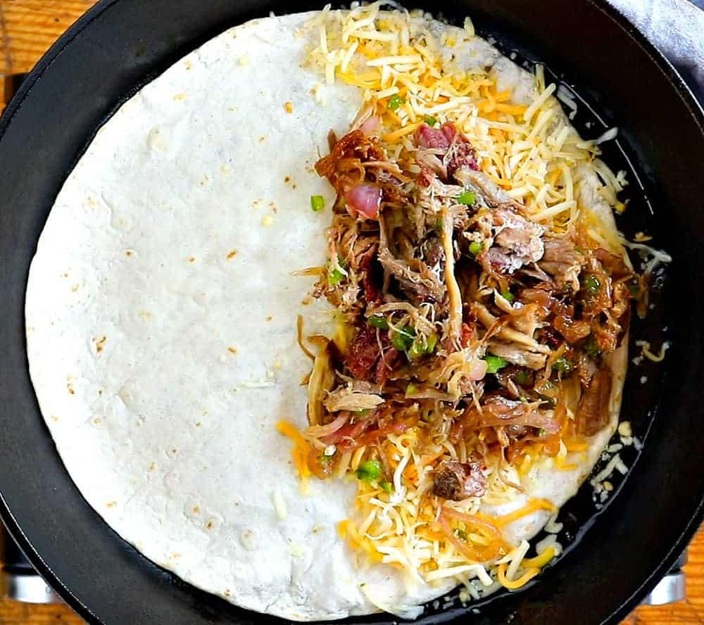 flavor packed pulled pork quesadillas!