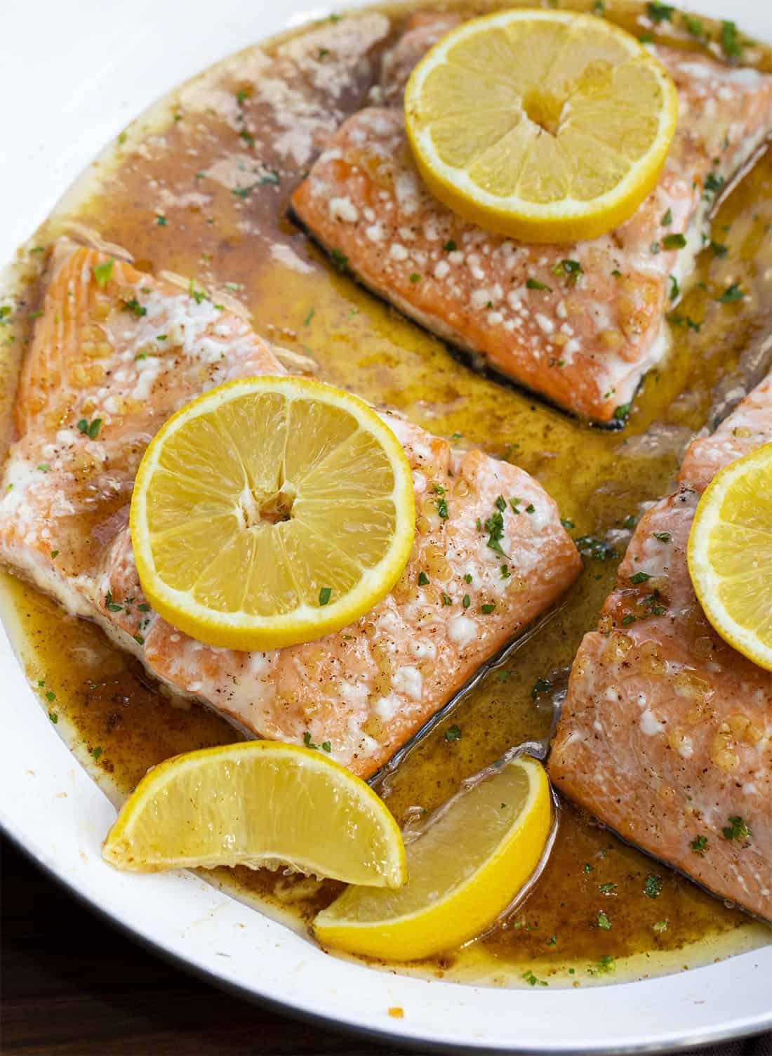 Brown Butter Honey Glazed Salmon
