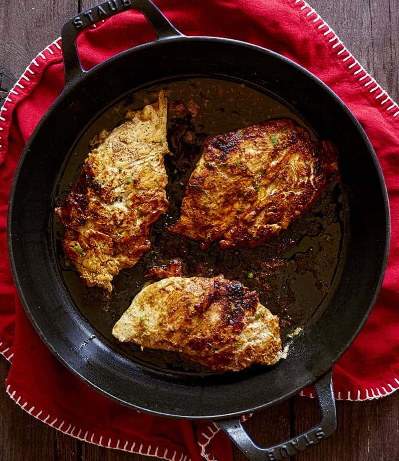 Marinated Chicken in Pan
