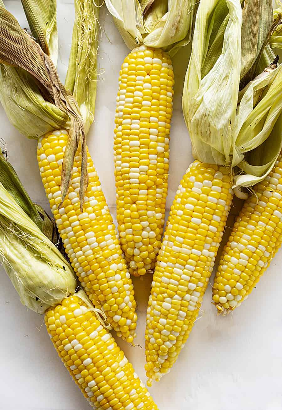 Grilled Corn with Husks On