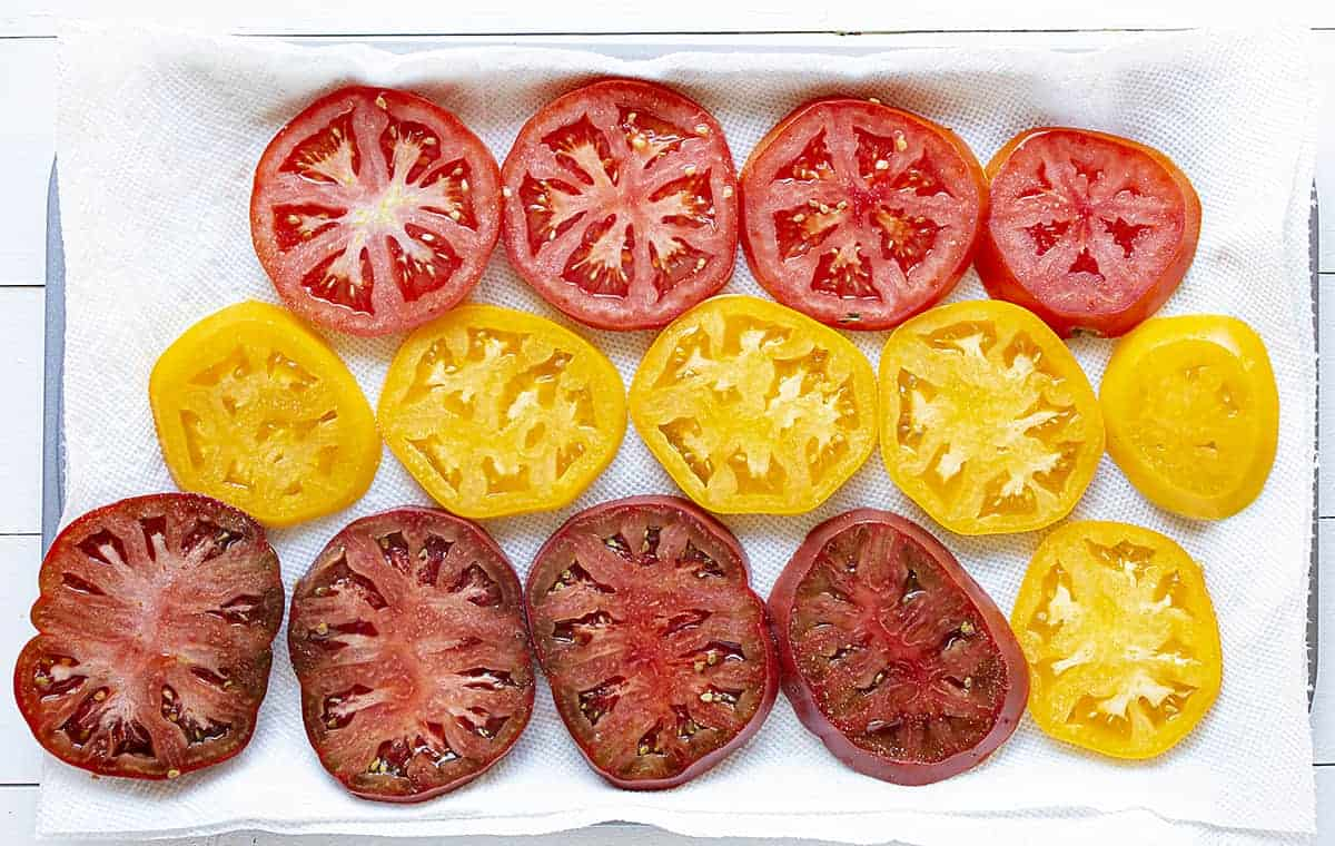 Tomatoes laid Out and Being Salted and Dried