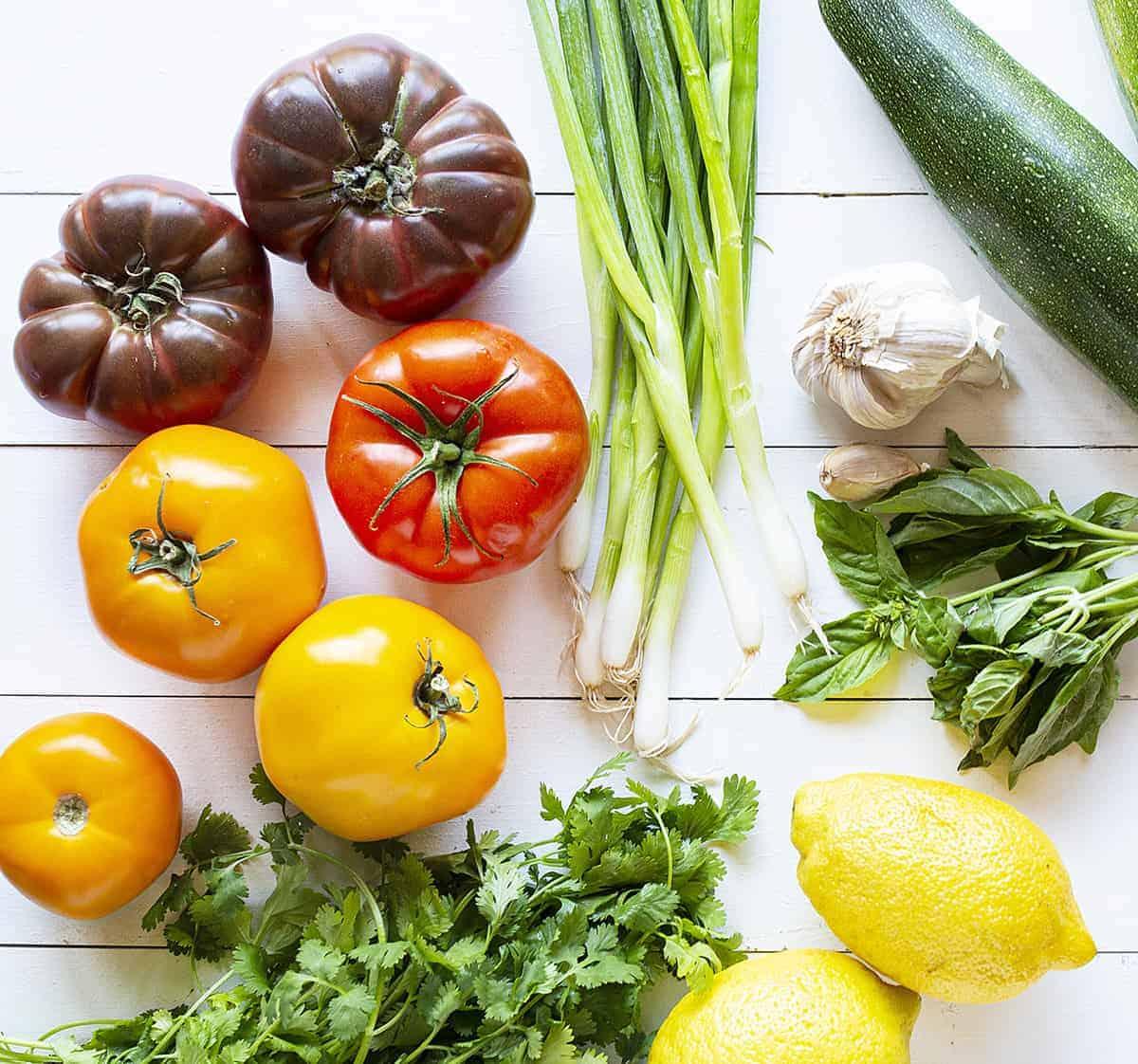 Ingredients for Tomato Pie