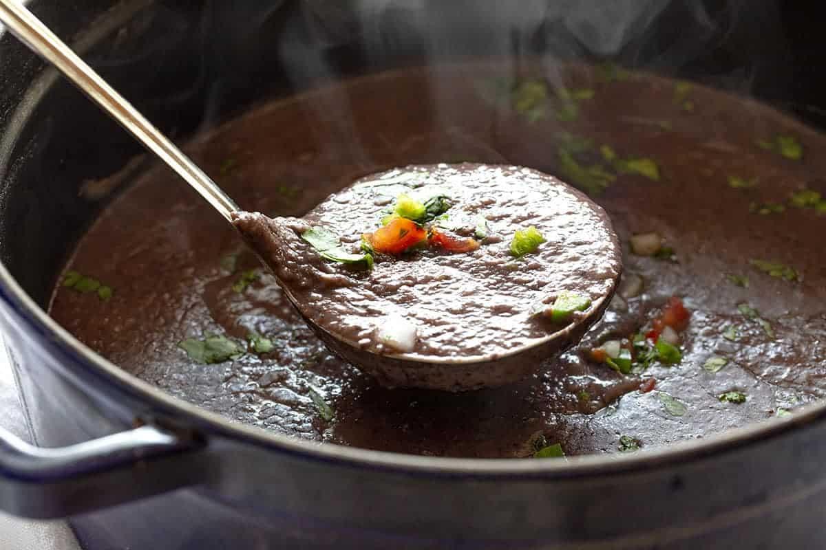 Ladle full of Black Bean Soup