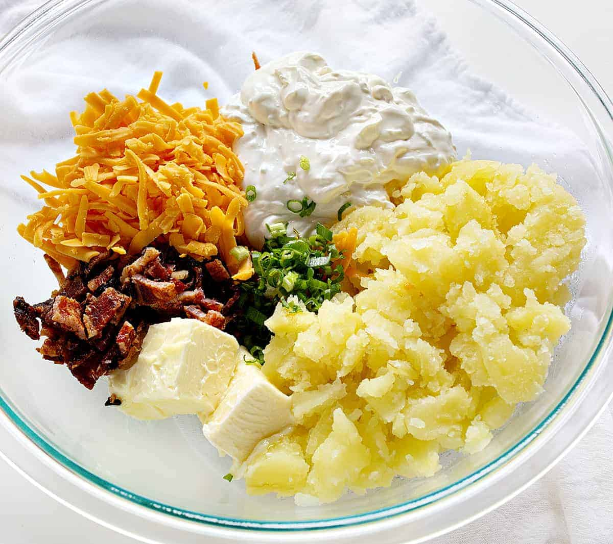 Ingredients for Twice Baked Potatoes Recipe