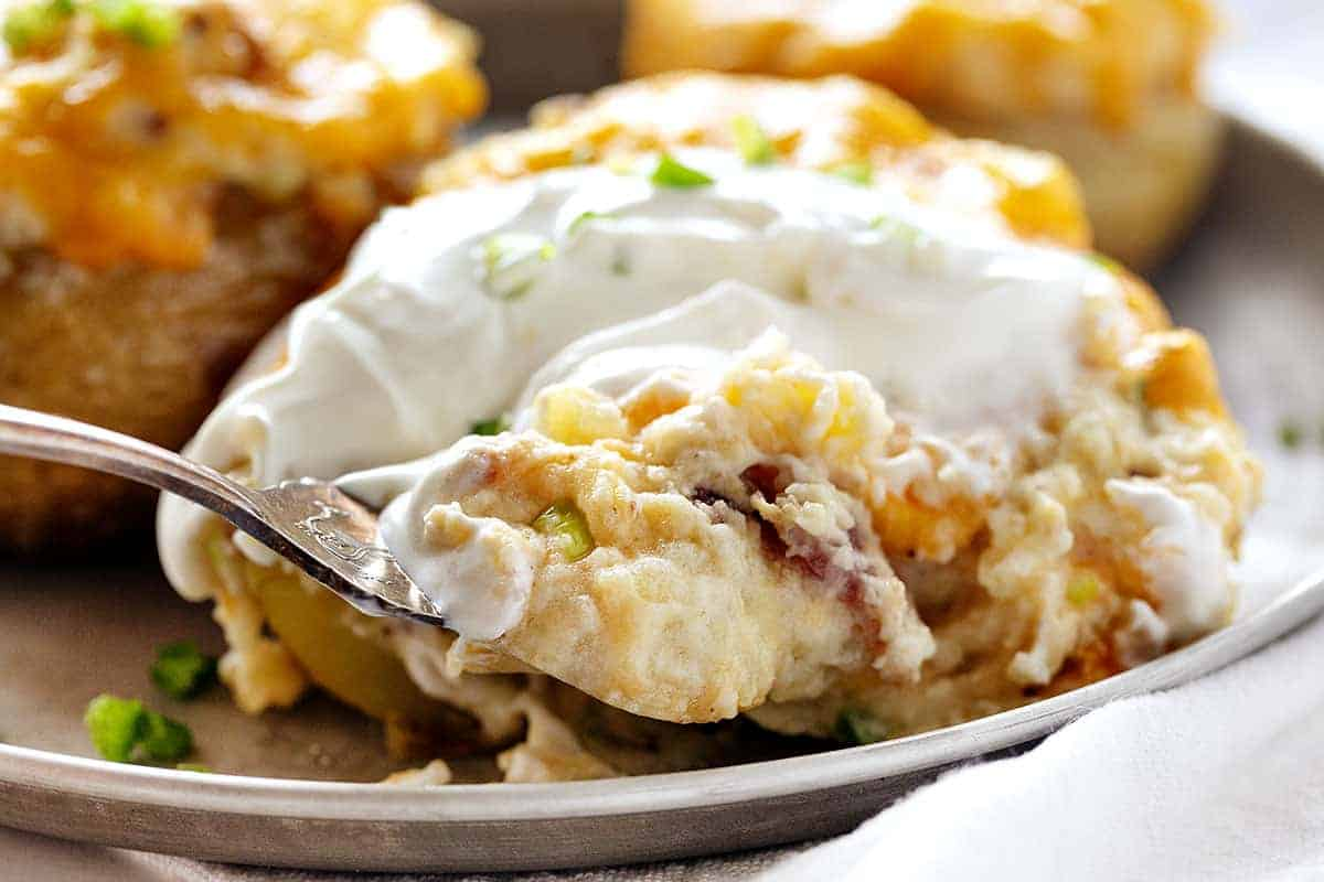 Forkful of Twice Baked Potatoes