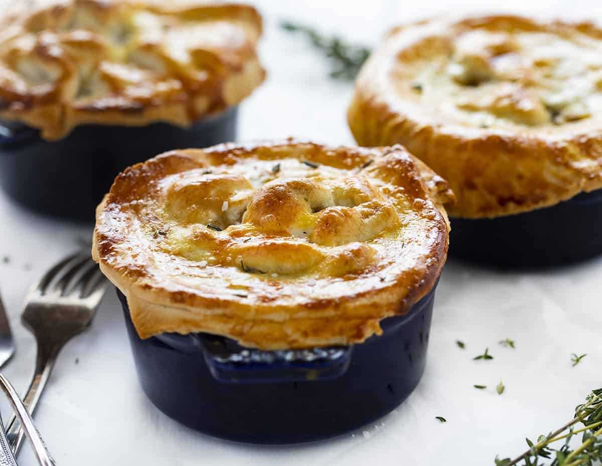 Individual Beef Pot Pies in Small Pots