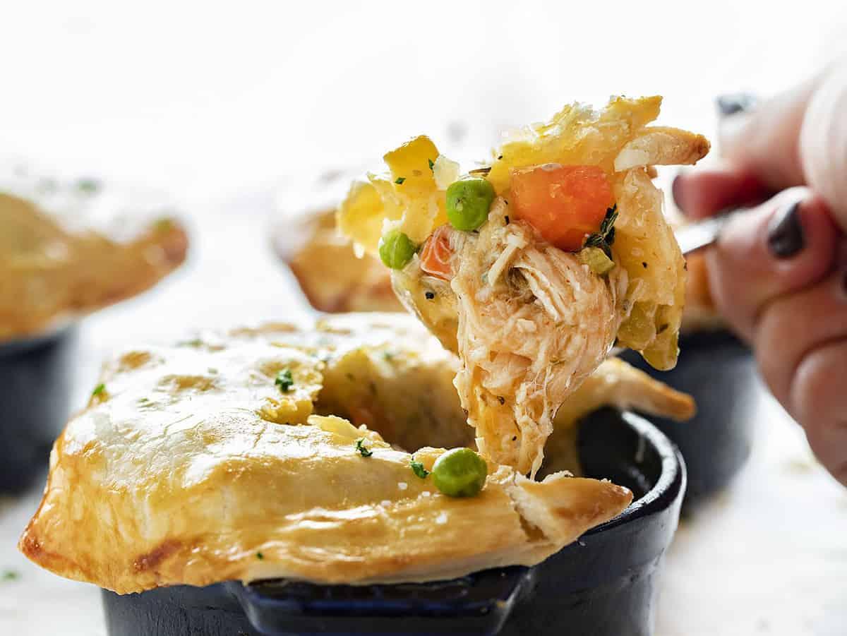 Spoonful of Chicken Pot Pie