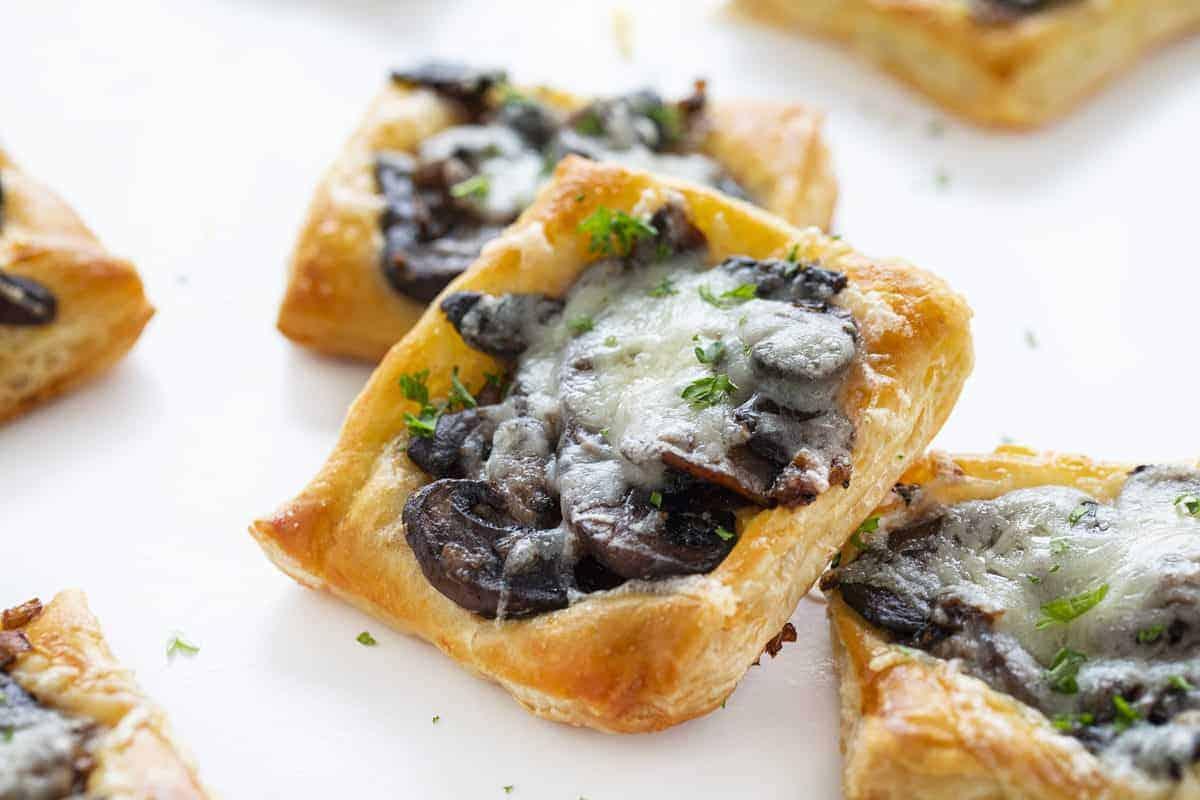 Cheesy Mushroom Pastries