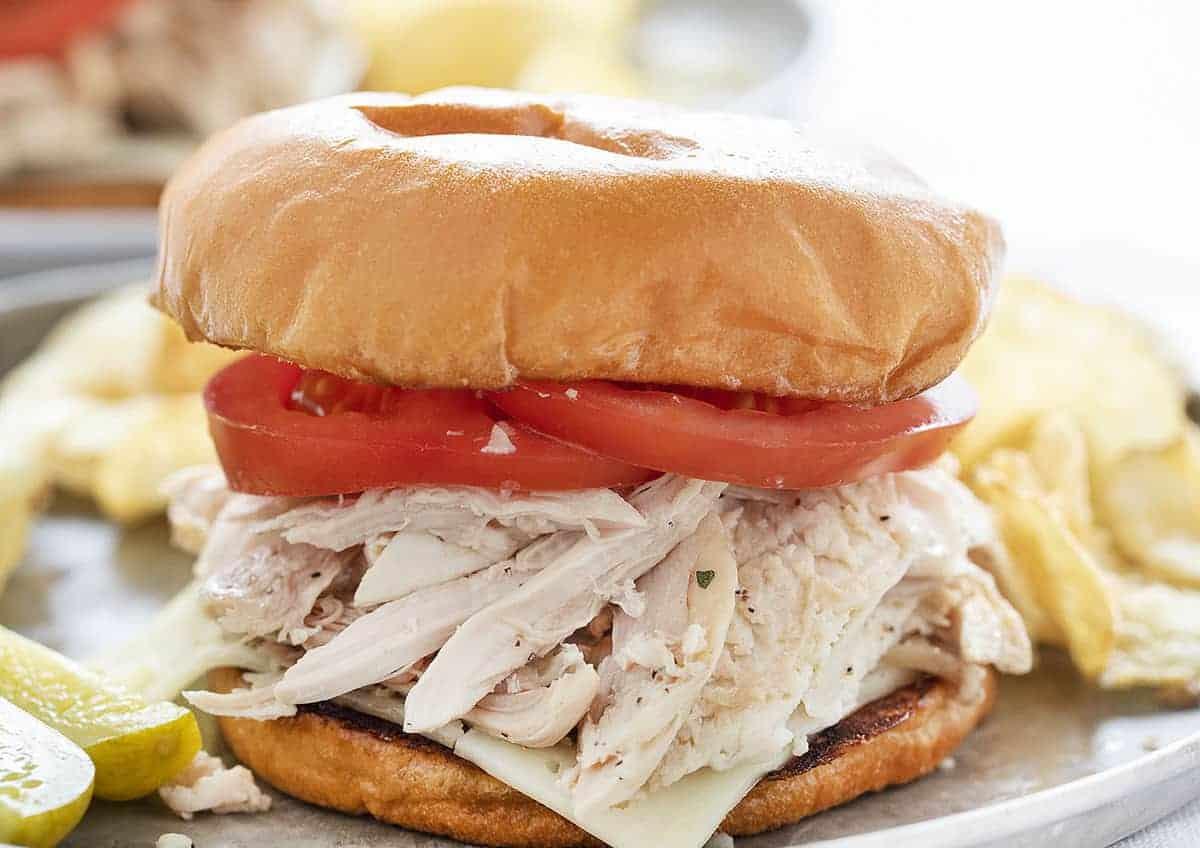 Close up view of Rotisserie Chicken Sandwich