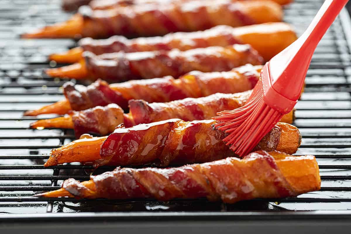 Glazing Maple Bacon Carrots
