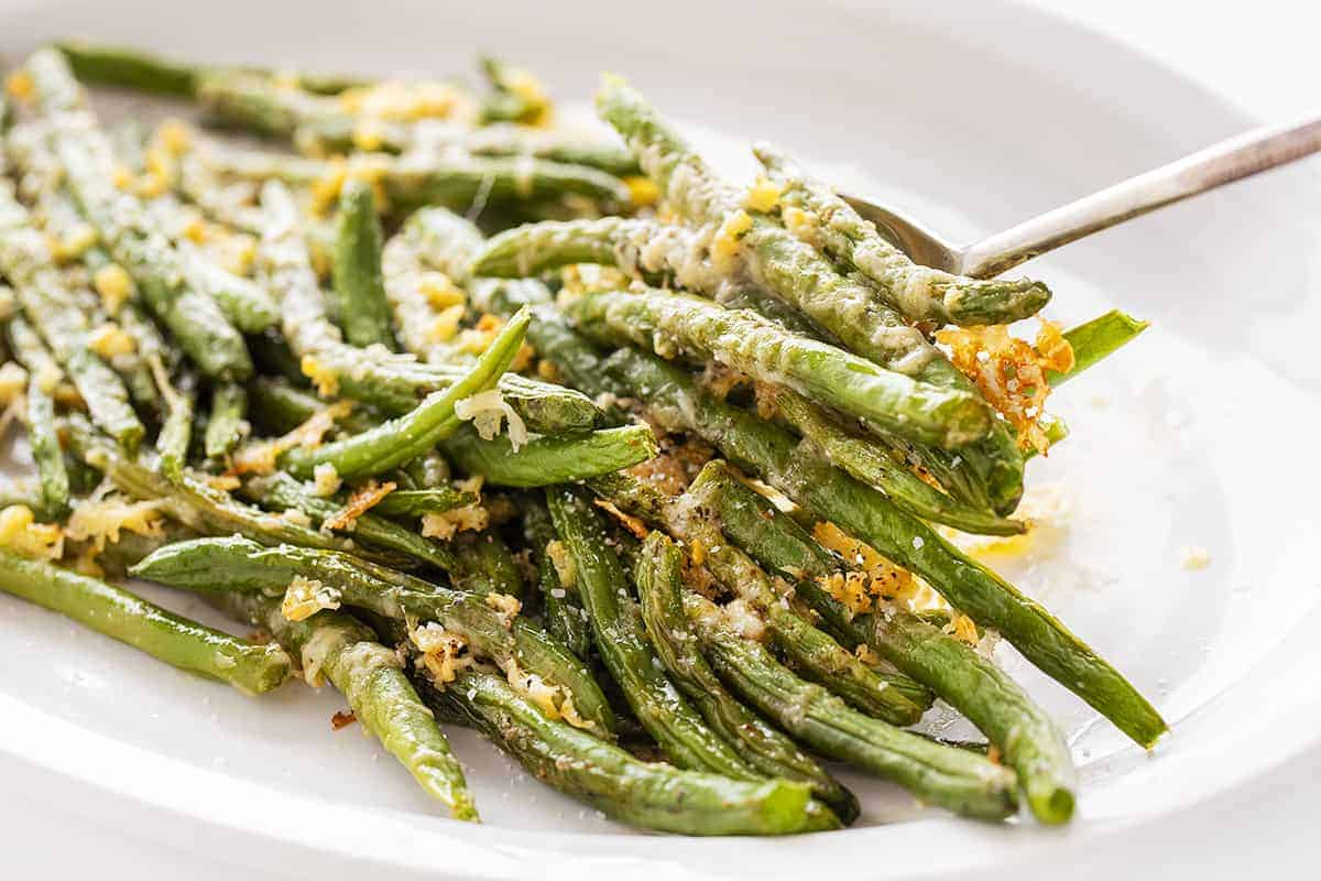 Spoonful of Roasted Parmesan Green Beans