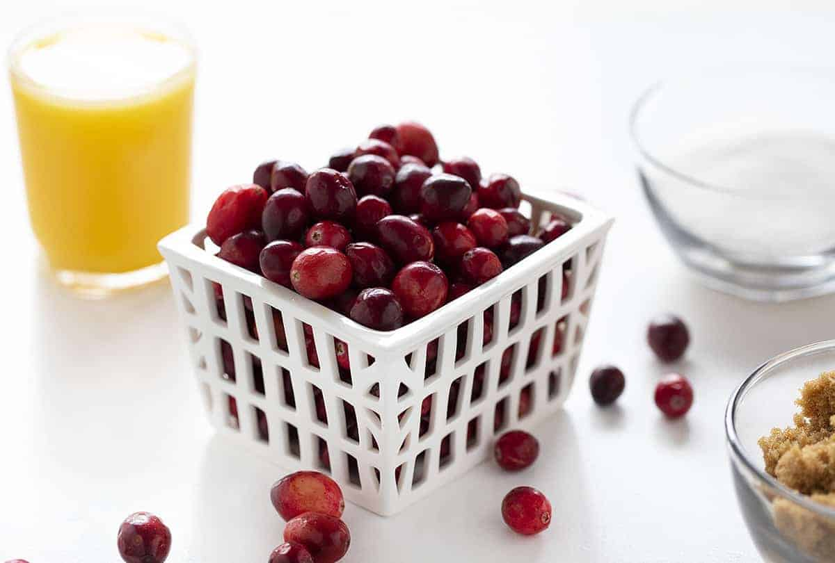 Ingredients for Homemade Cranberry Sauce