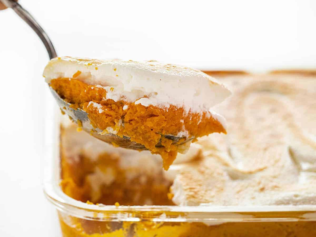 Spoonful of Sweet Mashed Potato Casserole