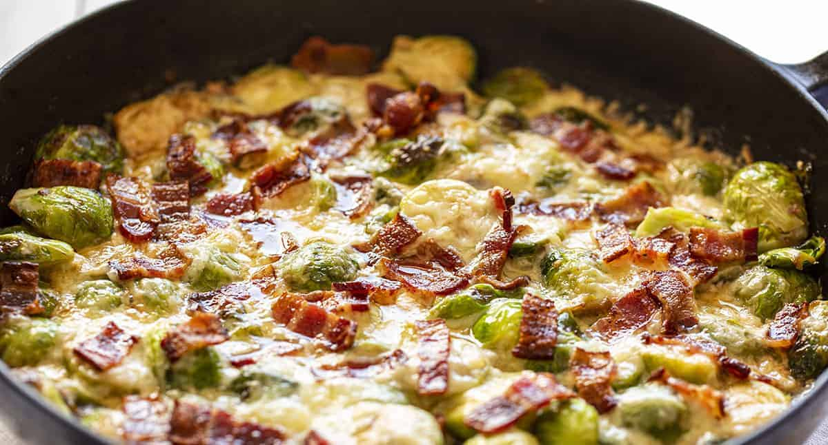 Gruyere Creamy Cheesy Brussel Sprouts