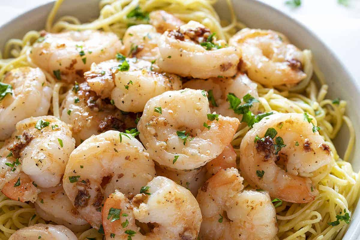 Homemade Shrimp Scampi with Linguini
