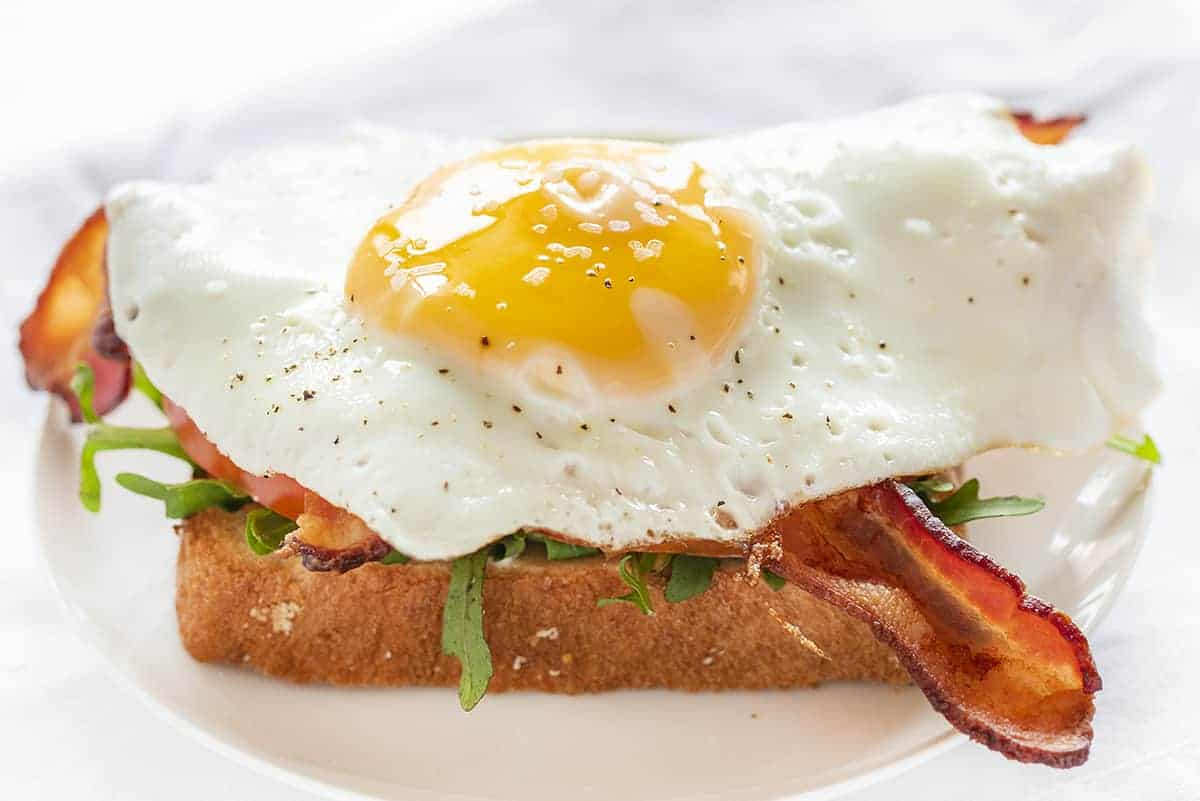 Fried Egg on BLT Sandwich