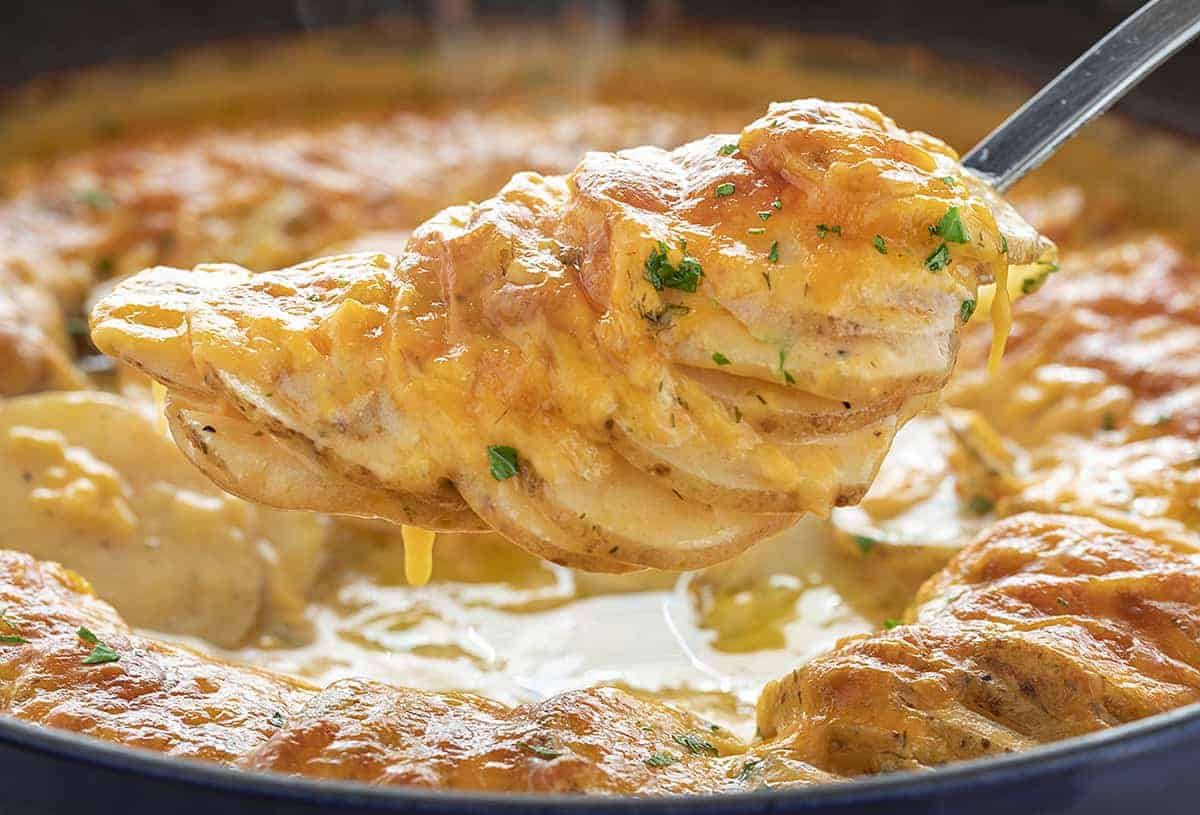 Spoonful of Cheesy Ranch Scalloped Potatoes