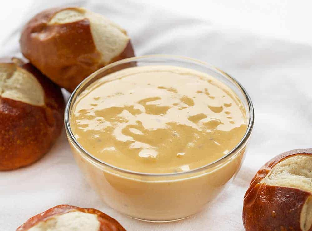 Cheddar Cheese Sauce in a Bowl