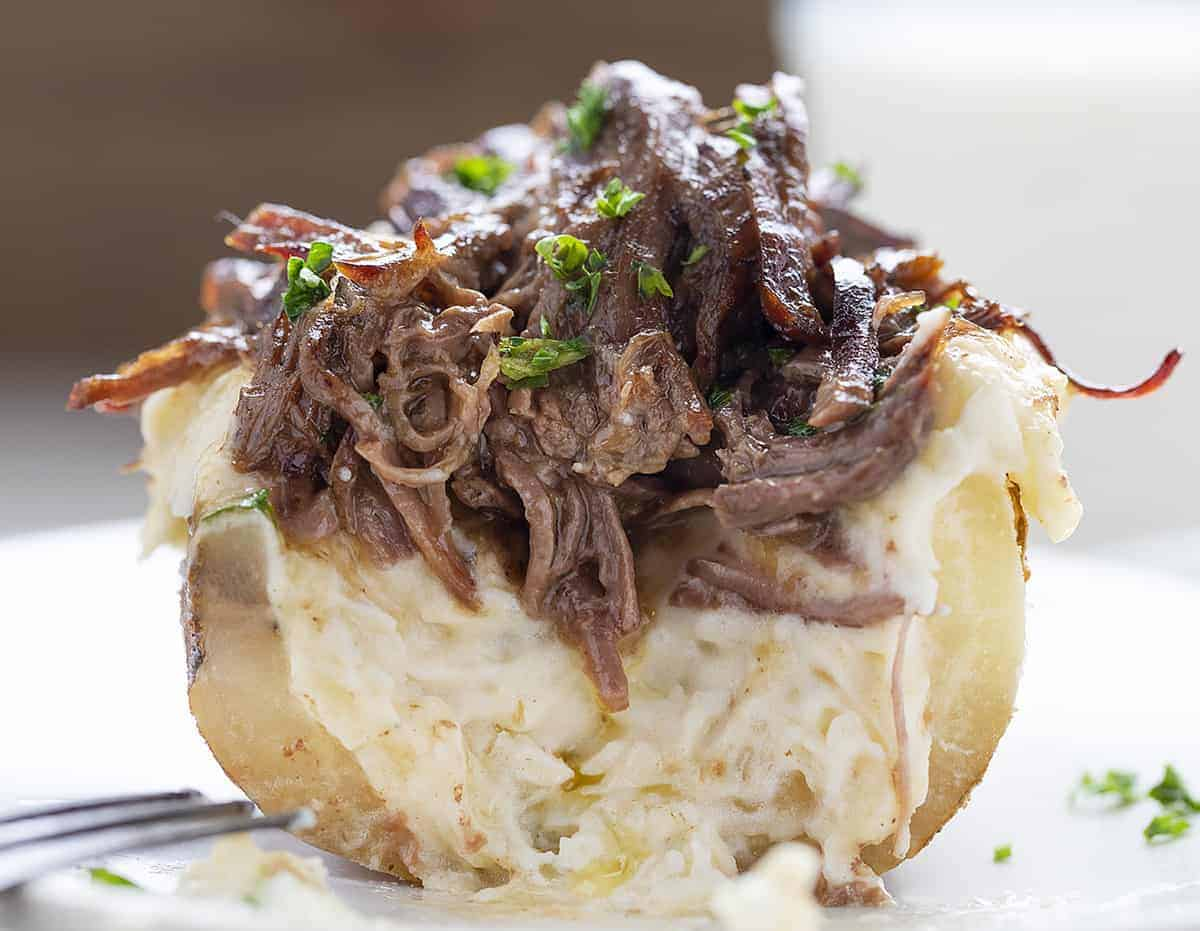 Cut Into Pot Roast Twice Baked Potato