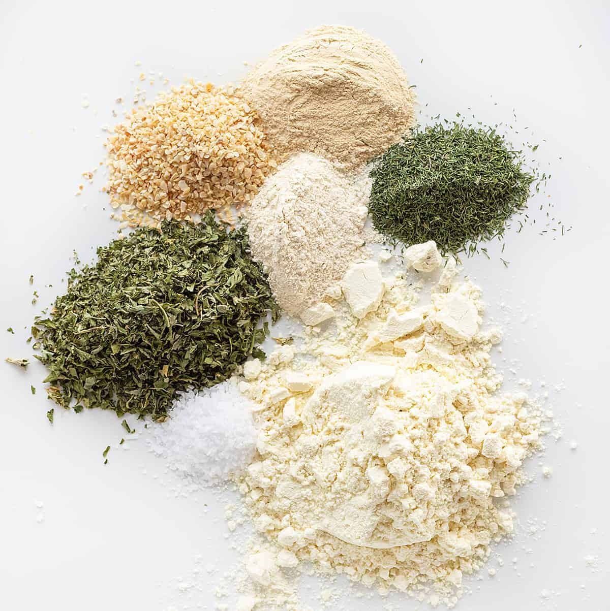 Ingredients for Homemade Ranch Seasoning