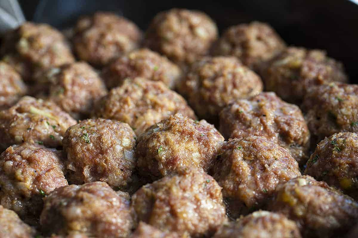 Meatballs Baked In Pan