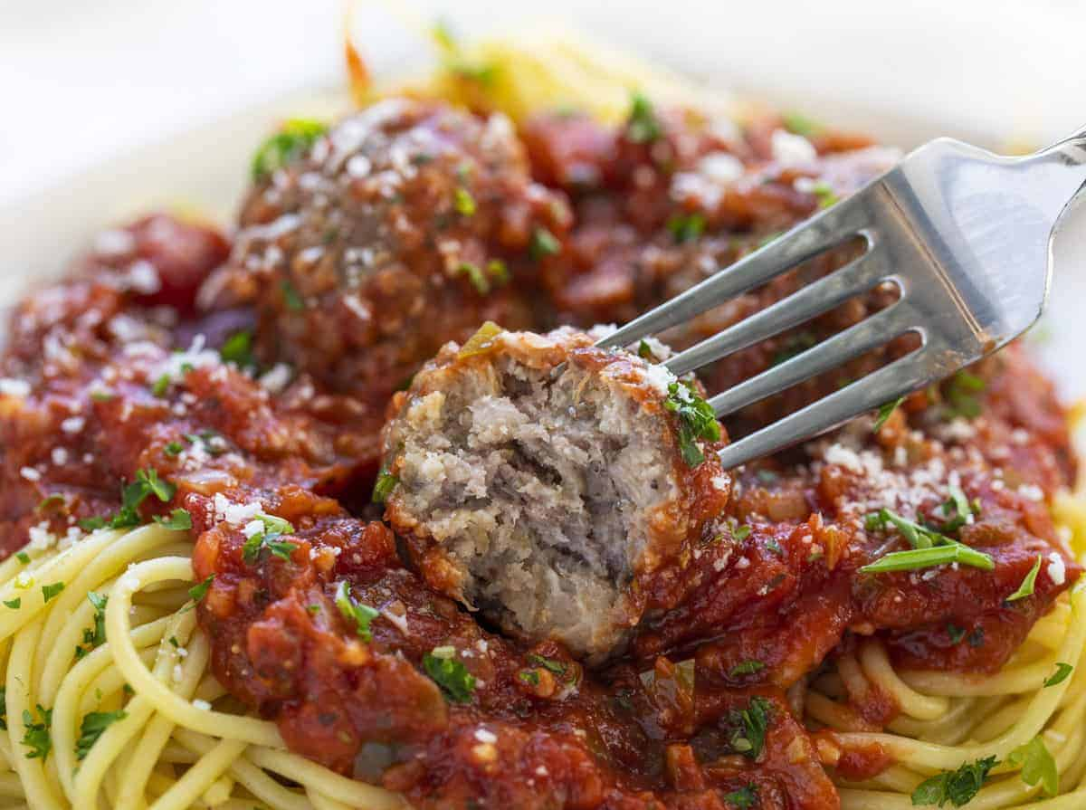 Homemade Meatball used in Spaghetti